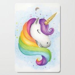 Rainbow Unicorn Cutting Board