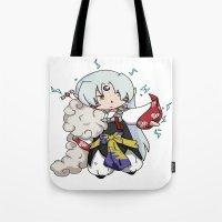 inuyasha Tote Bags featuring Chibi Sesshomaru by DaemonDeDevil