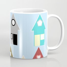 Rainbow Houses Coffee Mug