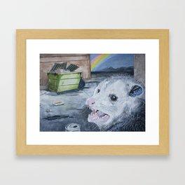 Happiness Is an Open Dumpster Framed Art Print