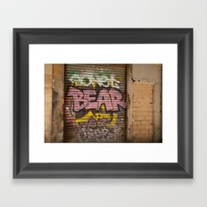 Who's Afraid of the Big Pink Bear Framed Art Print