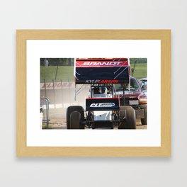 Kyle Larson motor heat Framed Art Print
