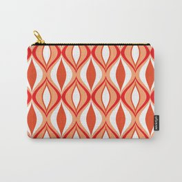 Mid-Century Modern Diamonds, Orange and White Carry-All Pouch