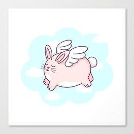 Flying Bunny Canvas Print