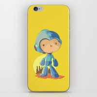 megaman iPhone & iPod Skins featuring Megaman by Rod Perich