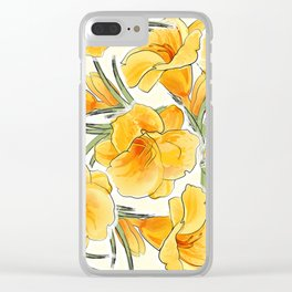 the daylily Clear iPhone Case