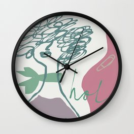 Holla! Wall Clock