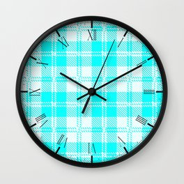 Tratan Style Pale Blue Backgrpund Wall Clock