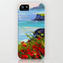 Sea ,rocks,flowers iPhone Case
