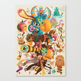My favorite Monsters And Birds Part 3 Canvas Print