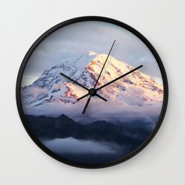 Marvelous Mount Rainier 2 Wall Clock