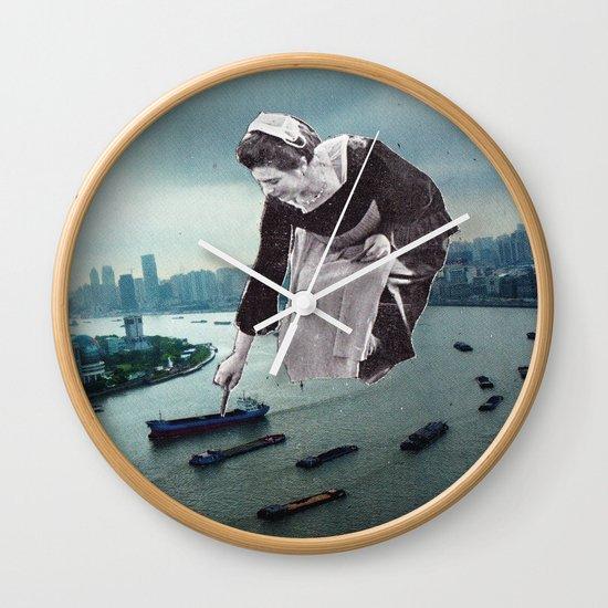Vintage photo collage #222 Wall Clock by Krzyzanowski Art ...