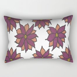 Holiday Two-Toned Flowers Rectangular Pillow