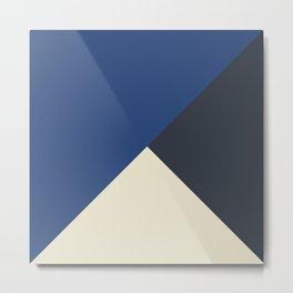 Origami Geo Tile // Blue tones // Mix + Match Metal Print
