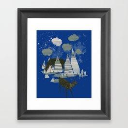 magic mountains Framed Art Print