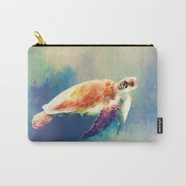 Sea Turtle Painting Carry-All Pouch