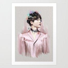 BTS SUGA (Min YoonGi) | First Love [WINGS] Art Print