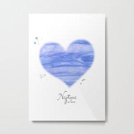 Neptune in love Metal Print
