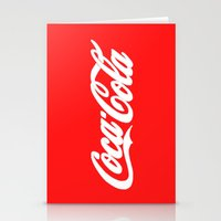 coca cola Stationery Cards featuring Coca-Cola by Rebekhaart