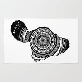 The Island of Maui [Tribal Illustration] Rug