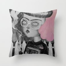 Strange and Unusual Throw Pillow