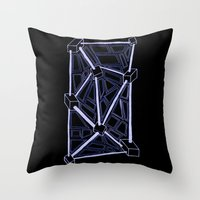 death star Throw Pillows featuring Death Star by clawsalina