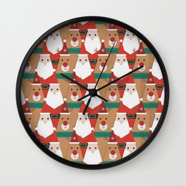 Christmas is Coming (Patterns Please) Wall Clock