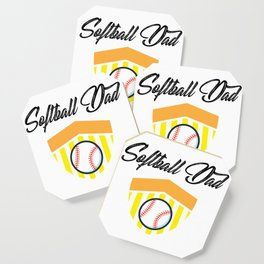 Softball And Dad For Men - Fathers Day Gifts Coaster