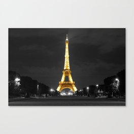 Eiffel Tower (Color Accented) Canvas Print