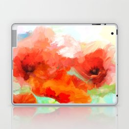 modern abstract Poppies Laptop & iPad Skin