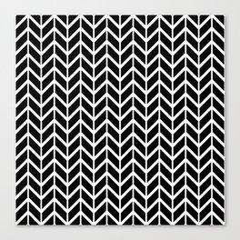 Black & White Chevron Arrowheads Canvas Print