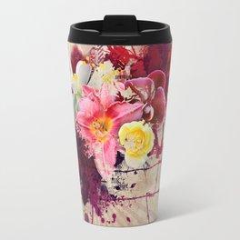 Country Floral Travel Mug