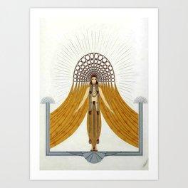 """Art Deco Oriental Design """"Café Foujita"""" Art Print"""