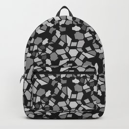 ROUTES gradient black grey abstract pattern Backpack