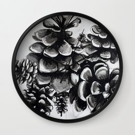 Giant Pinecones Wall Clock