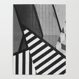 Abstract Art (Black and White) Poster