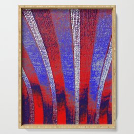 In the Zone red white blue stripes Serving Tray