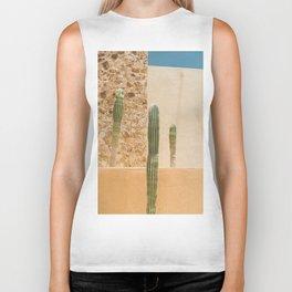 Abstract Cactus Biker Tank