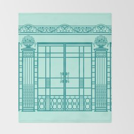 ART DECO, ART NOUVEAU IRONWORK: Blue Green Dream Throw Blanket
