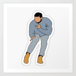 Drake Dancing Hip Hop Art Print