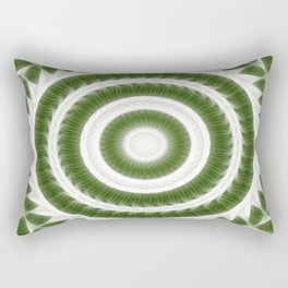 Green White Kaleidoscope Art 8 Rectangular Pillow