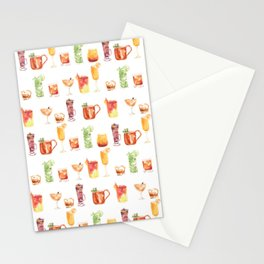 Happy Hour Drinks Stationery Cards