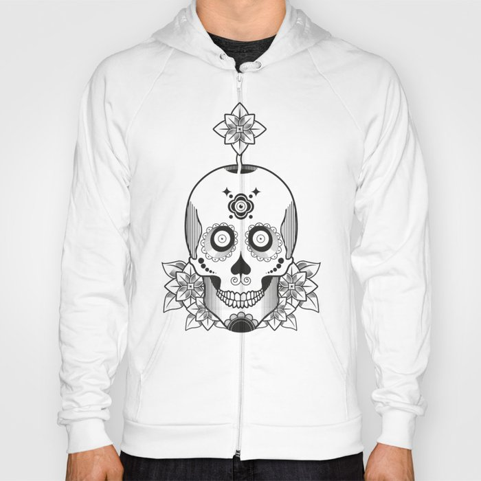 Skull and Flowers Hoody