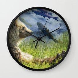 A Little Bear Dreams of Sweet Tomorrows Wall Clock