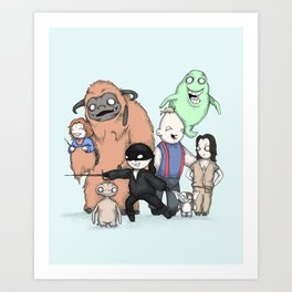 Retro Childhood Art Print