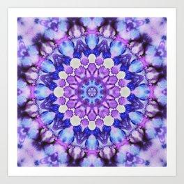 Ultra violet mandala 1 Art Print