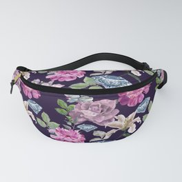 Diamond and flowers Fanny Pack