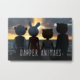 Dapper Animals Sunset Metal Print