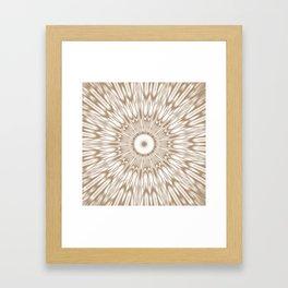 Beige Kaleidoscope Mandala Framed Art Print