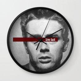 Live Fast Wall Clock